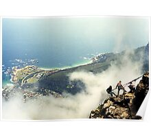 Abseiling on Table Mountain  - Capetown Poster