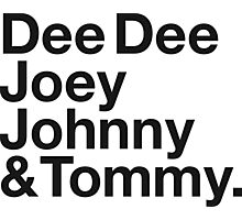 DEE DEE, JOEY, JOHNNY & TOMMY. Photographic Print