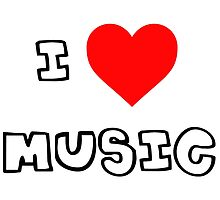 I Heart Music by PingusTees