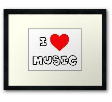 I Heart Music Framed Print