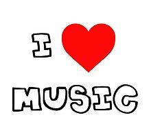 I Heart Music Photographic Print