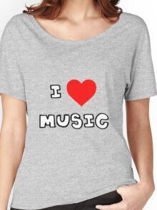 I Heart Music Women's Relaxed Fit T-Shirt