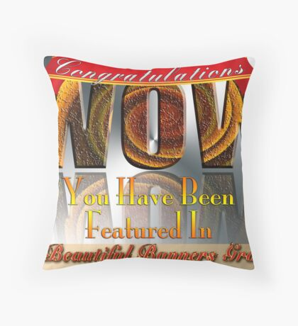 Beautiful Banners Group Challenge Banner Throw Pillow