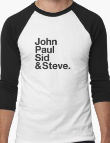 JOHN, PAUL, SID & STEVE. Men's Baseball ¾ T-Shirt