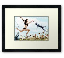 Jump like a cricket Framed Print