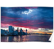 Sunset over Docklands Poster