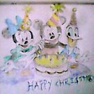 Mickey+Minnie+Donald,happy merry christmas by edgearyal