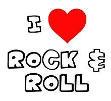 I Heart Rock & Roll Photographic Print