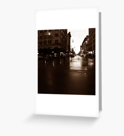 Adelaide streetscape Greeting Card