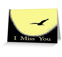 "heron on the ""moon"" Greeting Card"