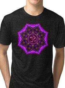 Pink Purple Aum Om Geometry Tri-blend T-Shirt