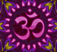 Pink Purple Aum Om Geometry Sticker
