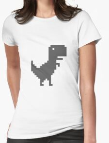 Pixel T-Rex Womens Fitted T-Shirt