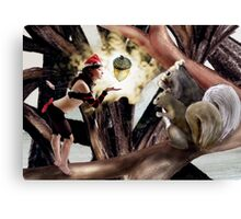 Marry Christmas - Squirrel girl Canvas Print