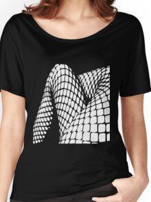 Fishnet legs (white print) Women's Relaxed Fit T-Shirt
