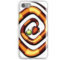 vector illustration of snake and apple laying on a dune iPhone Case/Skin