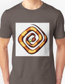 vector illustration of snake and apple laying on a dune T-Shirt