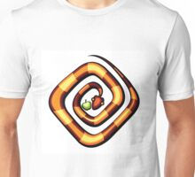 vector illustration of snake and apple laying on a dune Unisex T-Shirt