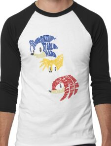 Sonic, Tails & Knuckles Men's Baseball ¾ T-Shirt