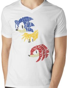 Sonic, Tails & Knuckles Mens V-Neck T-Shirt