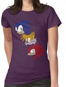 Sonic, Tails & Knuckles Womens Fitted T-Shirt