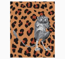a tarsier on leopard print by Tinms