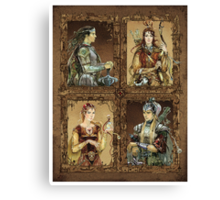 King of Narnia - Peter,Susan,Lucy,Edmund Canvas Print