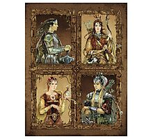 King of Narnia - Peter,Susan,Lucy,Edmund Photographic Print
