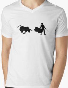 Matador and Bull Mens V-Neck T-Shirt