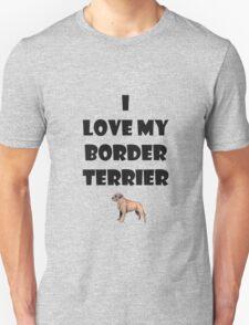 Border terrier love T-Shirt