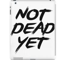 Not Dead Yet - Frank Turner Inspired T-Shirt (Black) iPad Case/Skin