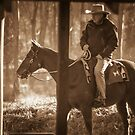 Frosty Morning Cowboy by Clare Colins