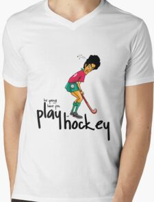 Hockey Mens V-Neck T-Shirt