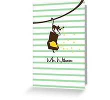 Mr Nilson - Pippi Longstocking Greeting Card