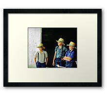 Amish Boys Framed Print