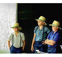 Amish Boys Photographic Print