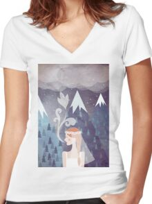 About love Women's Fitted V-Neck T-Shirt