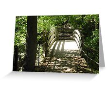 Eddy Dam Footbridge Greeting Card