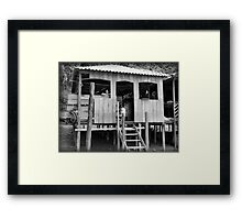 Village Life ~ Black & White Framed Print