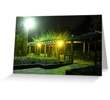 Night at Cornell Plantations Greeting Card