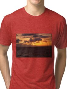 Sunset Over North Sea Tri-blend T-Shirt