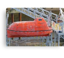 A dirty lifeboat Canvas Print