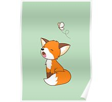 Cute Sleepy Little Fox Poster