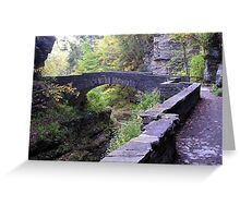 Enfield Glen Footbridge, Treman Park Greeting Card