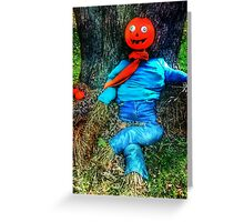 Pumpkin Head Scarecrow Greeting Card