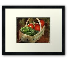 Love My Veggies! Framed Print