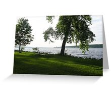 Taughannock Falls Shoreline Greeting Card