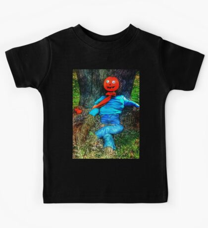 Pumpkin Head Scarecrow Kids Tee