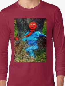 Pumpkin Head Scarecrow Long Sleeve T-Shirt