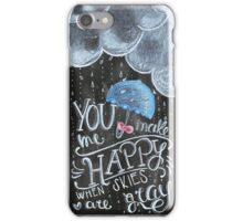 Happy COver Handmade chalkboard art iPhone Case/Skin
